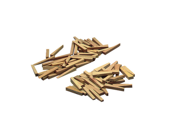 Fliskiler i tre 1,3-7 mm 250 stk