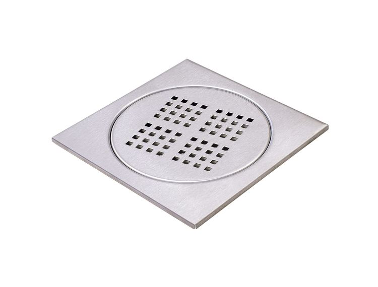 Design Slukrist N°7 20x20cm rund børstet stål