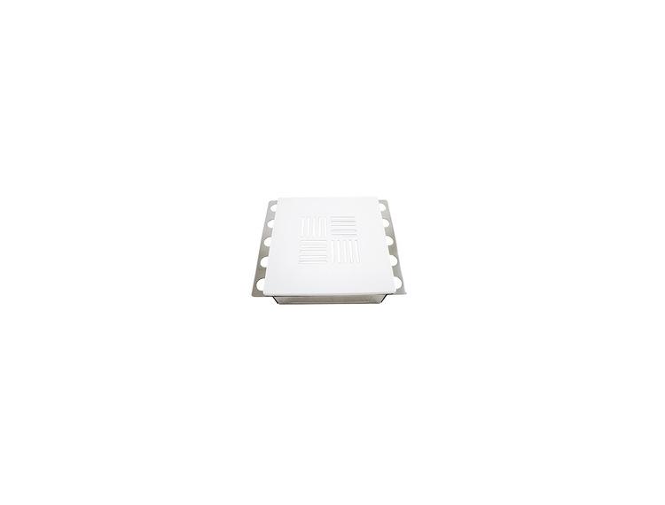 Ventilluke hvitlakkert 20x20cm N°3