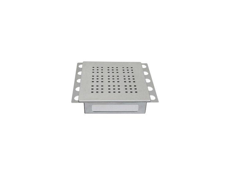 Ventilluke polert stål 20x20cm N°7