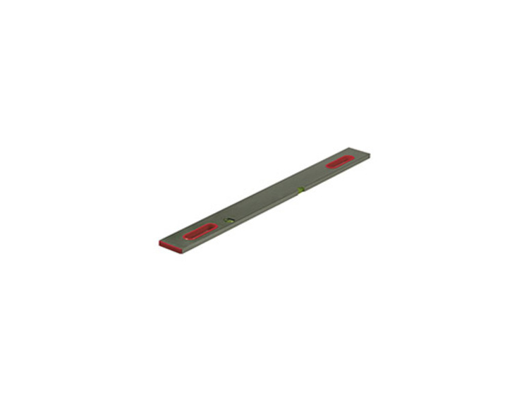 Rettholt aluminium 235 cm med 2 libeller