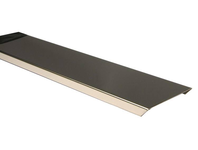 Endeprofil sett i børstet stål 200 cm/100 cm