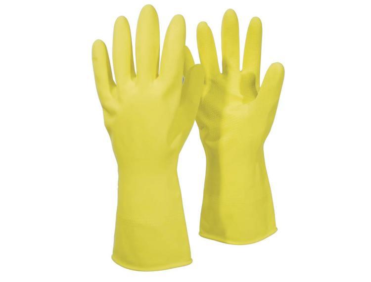 Gummihansker Ferra gul str.XL