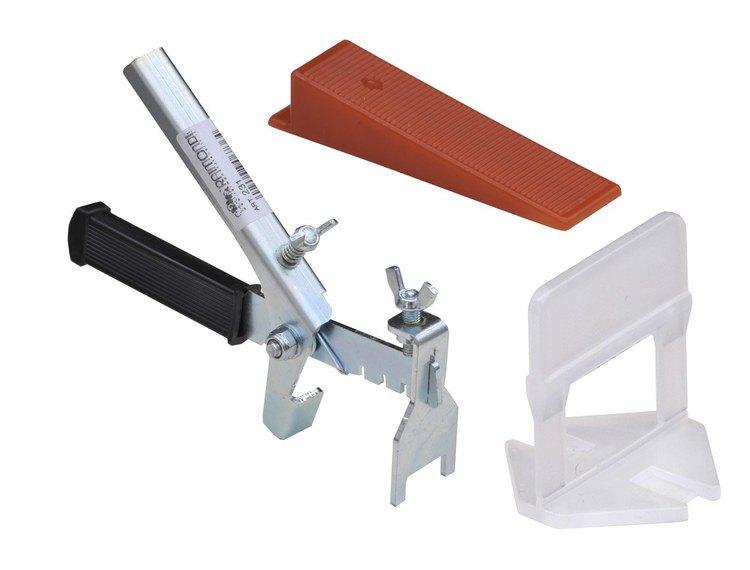 Kiler, klips og Tang (kit) à 100 stk for planering av fliser