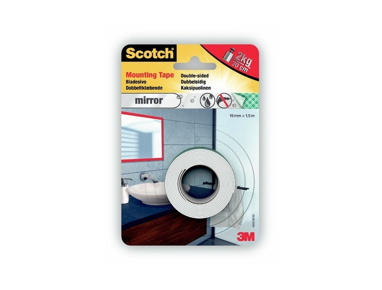 3M Monteringstape for speil 19 mm x 1,5 m Scotch 40031915