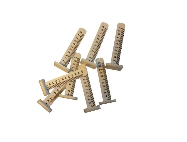 Nivåpinner 65mm hvit m/skalering, for avrettingsmasse 100stk