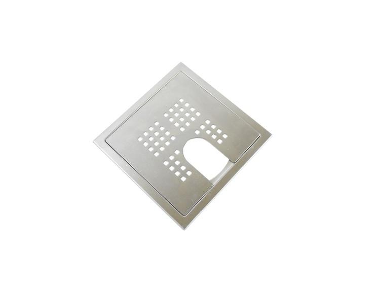 Design Slukrist N°7 20x20cm med uthugg børstet stål