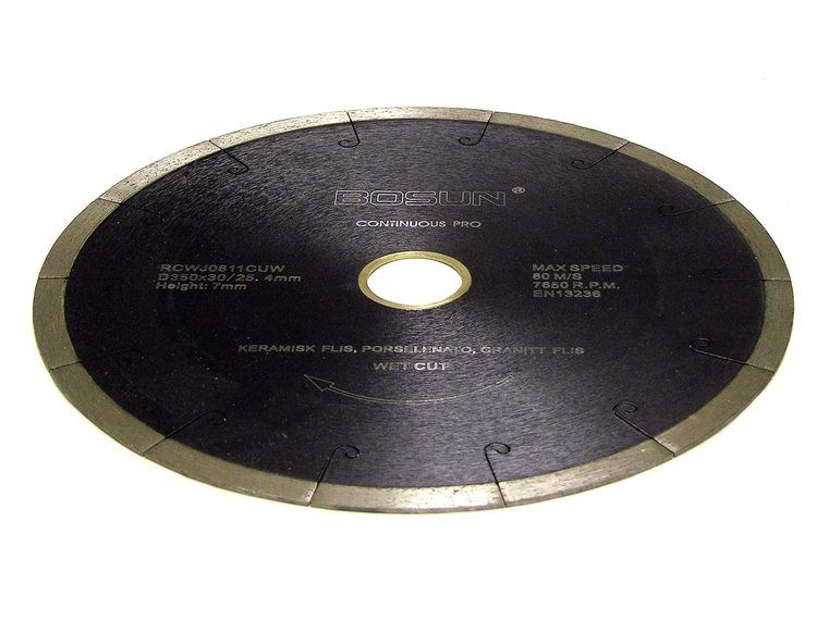 Diamantblad segment 350/30-25,4 mm Bosun