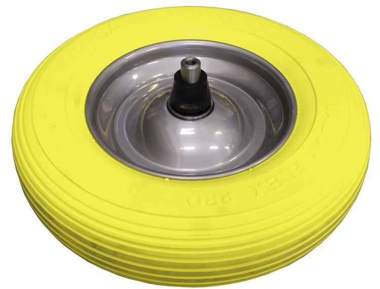 Trillebårhjul punkteringsfri for betongbåre 4x8.00