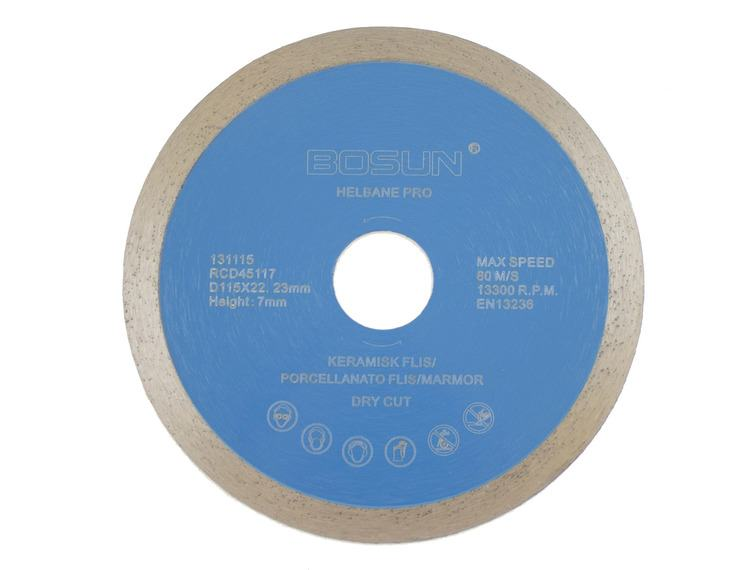 Diamantblad helbane 115/22,2 mm Bosun Pro Blå