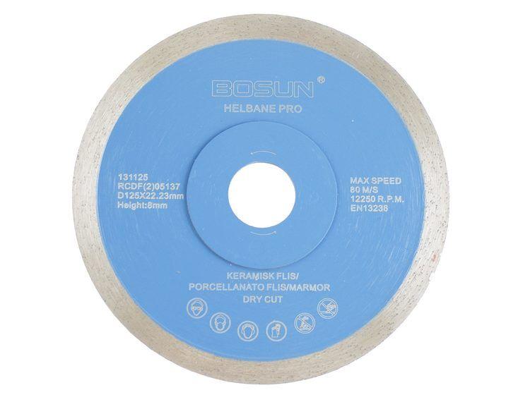 Diamantblad helbane 125/22,2 mm Bosun Pro Blå