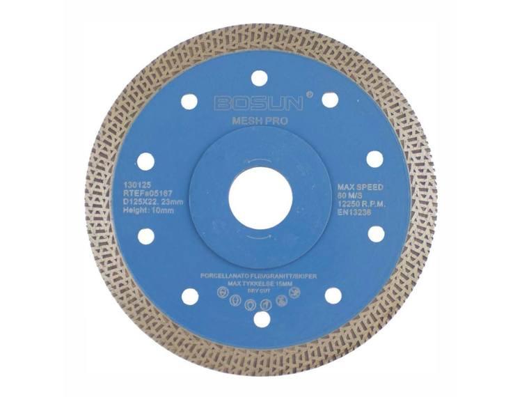 Diamantblad mesh 125/22,2 mm Bosun Pro Blå