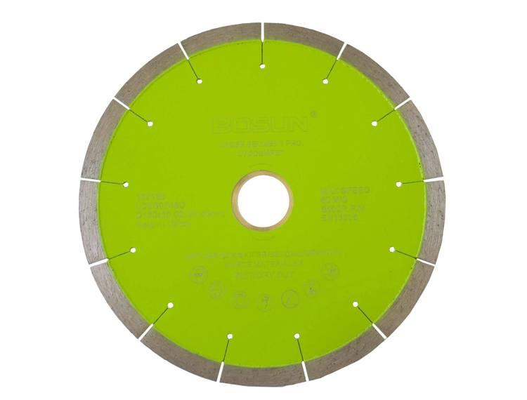 Diamantblad segment 180/30-25,4 mm Bosun Pro Grønn