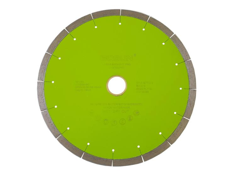 Diamantblad segment 230/30-25,4 mm Bosun Pro Grønn