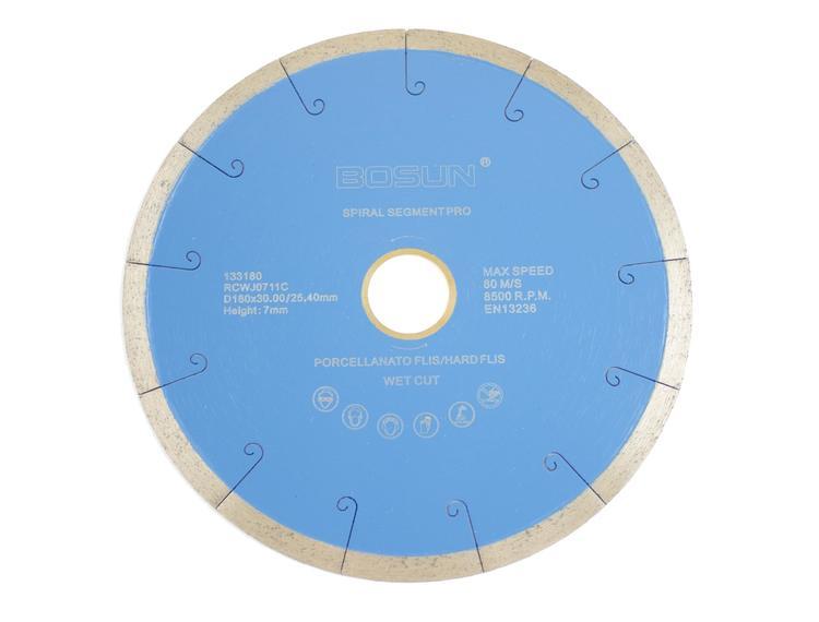 Diamantblad spiralsegment 180/30-25,4 mm Bosun Pro Blå