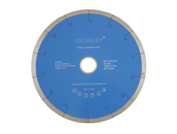 Diamantblad spiralsegment 200/30-25,4 mm Bosun Pro Blå
