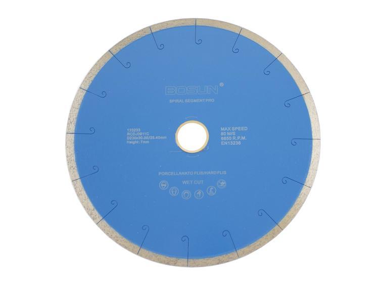 Diamantblad spiralsegment 230/30-25,4 mm Bosun Pro Blå