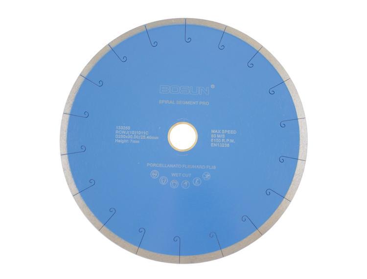Diamantblad spiralsegment 250/30-25,4 mm Bosun Pro Blå