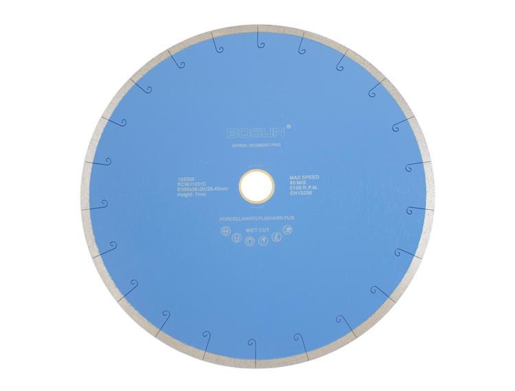 Diamantblad spiralsegment 300/30-25,4 mm Bosun Pro Blå