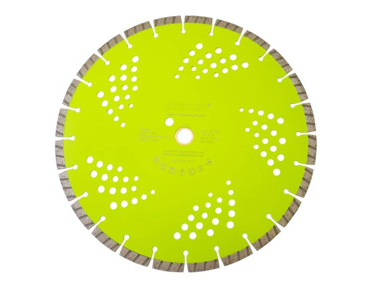 Diamantblad turbosegment 350/25,4-20 mm Bosun Pro Grønn