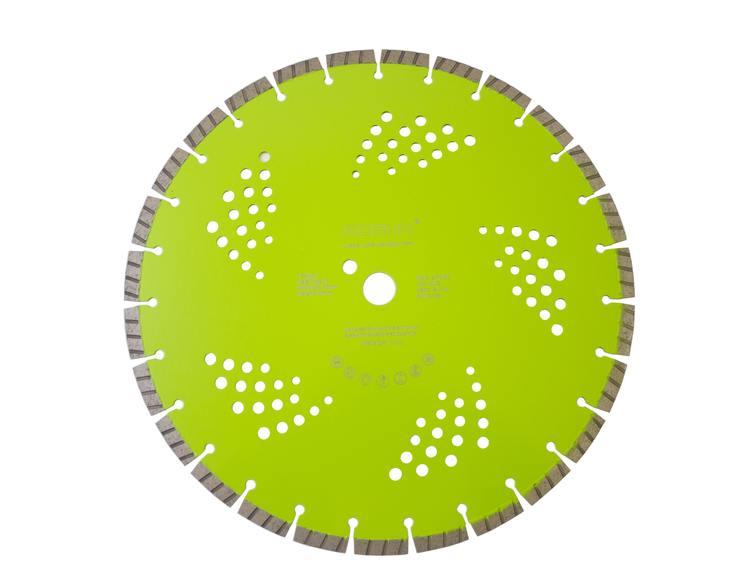 Diamantblad turbosegment 400/25,4 mm Bosun Pro Grønn