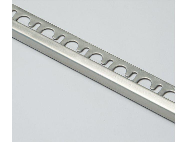 Projolly firkant Symetriclist børstet stål 12,5 mm 270 cm