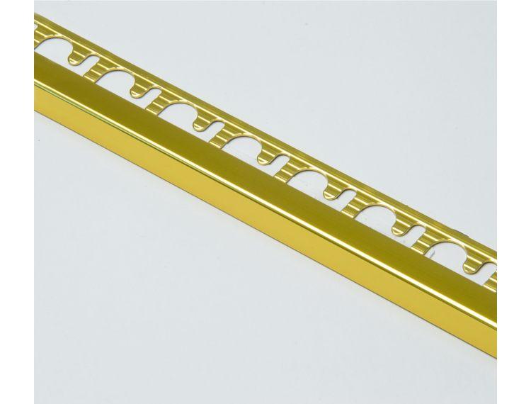 Projolly firkant Symetriclist gull blank alu 12,5 mm 270 cm