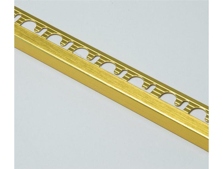 Projolly firkant Symetriclist børstet gull alu 10 mm 270 cm