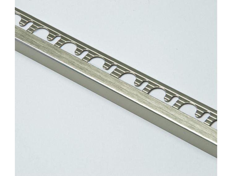 Projolly firkant Symetriclist børstet titan alu 10 mm 270 cm