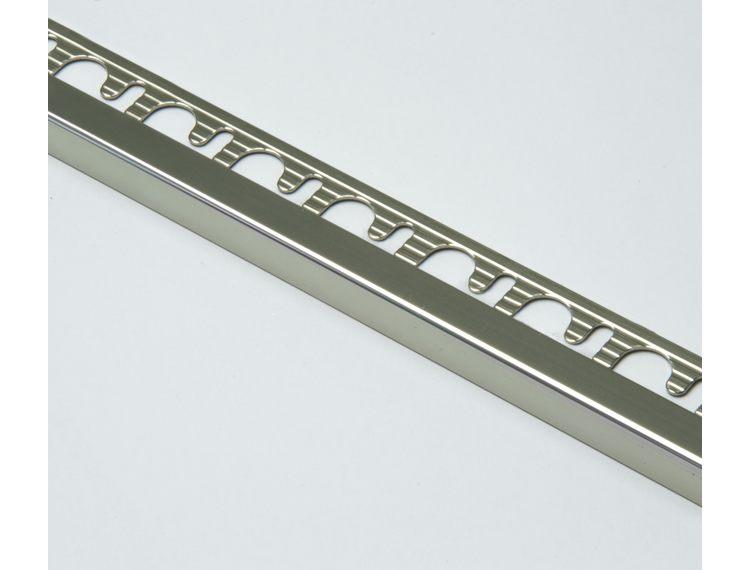 Projolly firkant Symetriclist titan blank alu 12,5 mm 270 cm