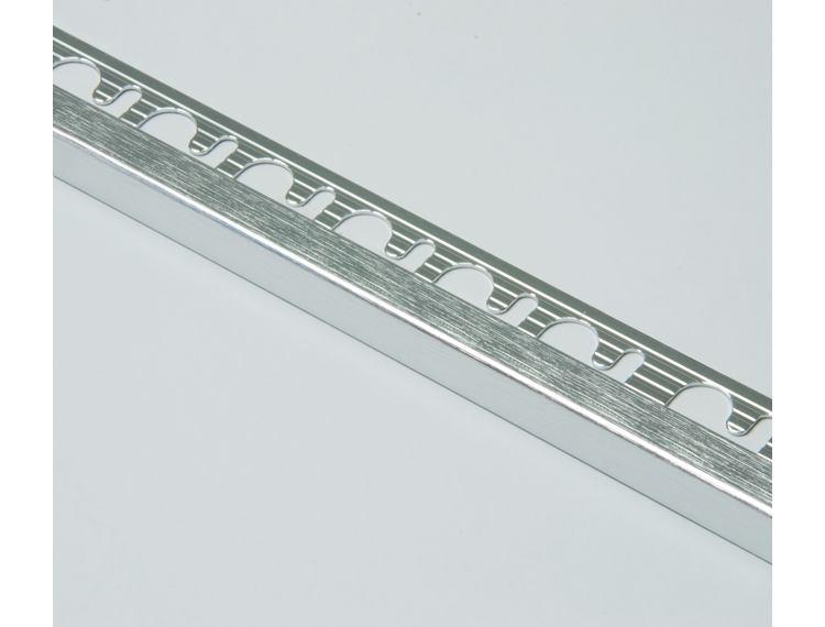 Projolly firkant Symetriclist børstet blank alu 12,5 mm 270 cm