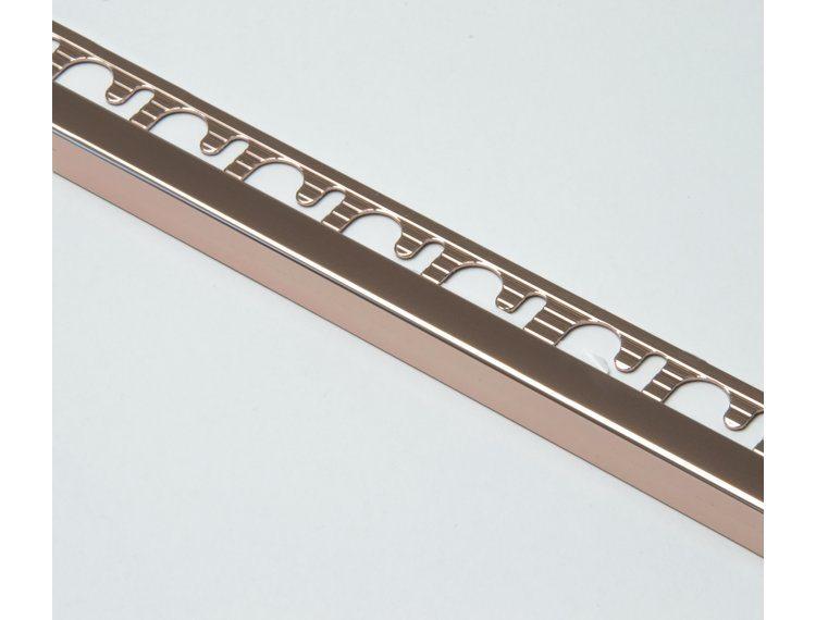 Projolly firkant Symetriclist kobber blank alu 12,5 mm 270 cm