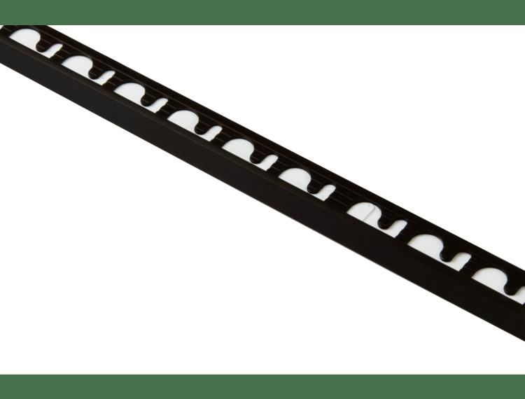 Proterminal endelist børstet sort alu 10 mm 270 cm
