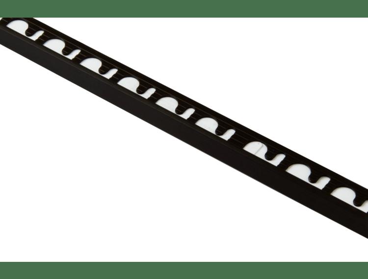 Proterminal endelist børstet sort alu 12,5 mm 270 cm