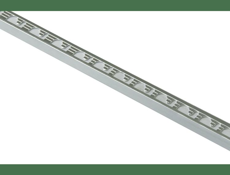 Proterminal endelist børstet blank alu 12,5 mm 270 cm