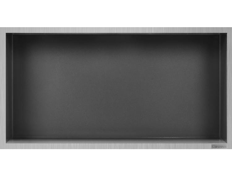ESS Container Box10 veggnisje antrasitt, ramme børstet stål 60x30x10 cm