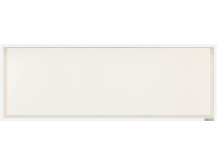 ESS Container Box10 veggnisje krem,ramme polert stål 90x30x10 cm
