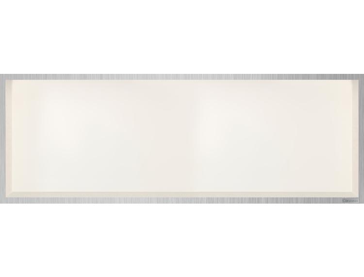 ESS Container Box10 veggnisje krem, ramme børstet stål 90x30x10 cm