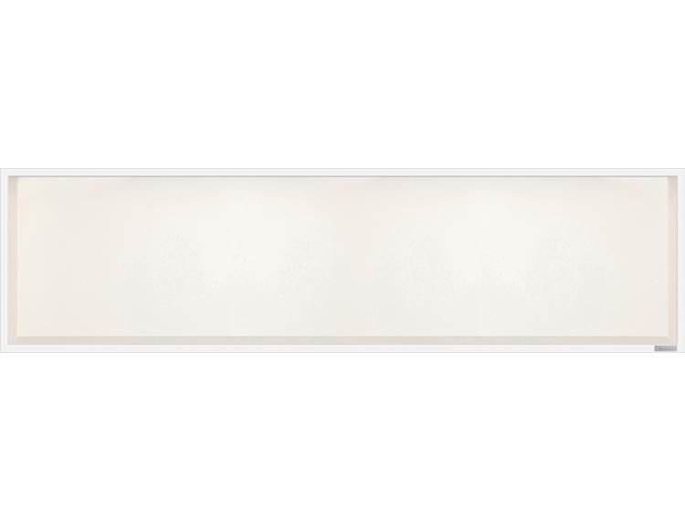 ESS Container Box10 veggnisje krem,ramme polert stål 120x30x10 cm