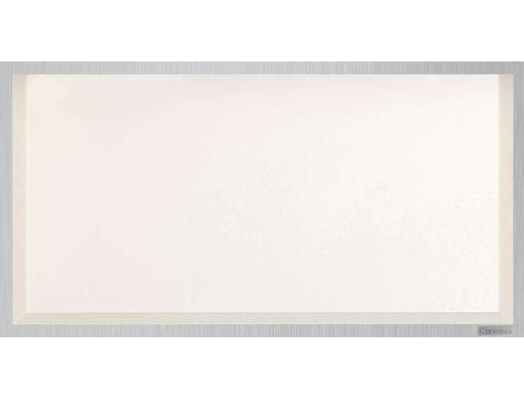 ESS Container Box10 veggnisje krem, ramme børstet stål 60x30x10 cm