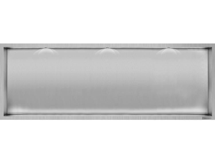 ESS Container Box10 Veggnisje LED  børstet stål 90x30xcm