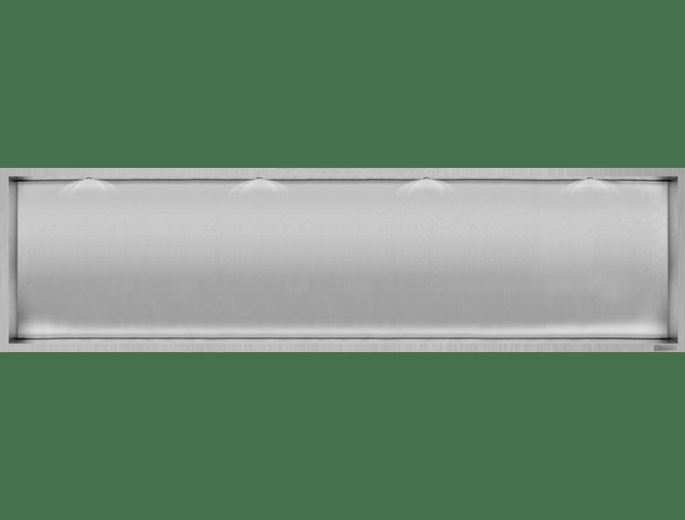 ESS Container Box10 Veggnisje LED  børstet stål 120x30xcm