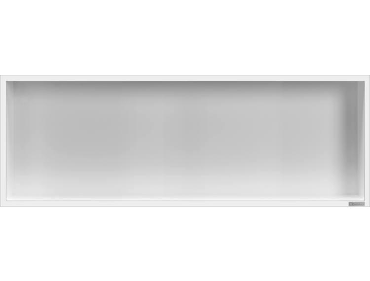 ESS Container Box10 veggnisje hvit,ramme polert stål 90x30x10 cm