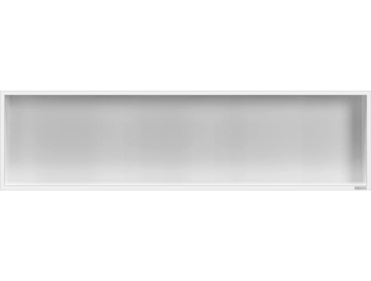 ESS Container Box10 veggnisje hvit,ramme polert stål 120x30x10 cm