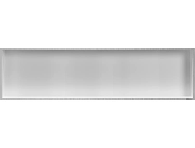 ESS Container Box10 veggnisje hvit,ramme børstet stål 120x30x10 cm