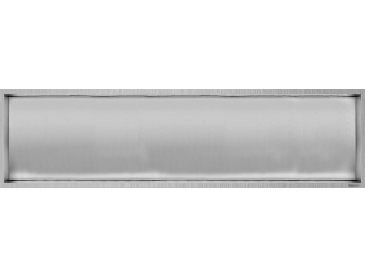 ESS Container Box10 veggnisje børstet,ramme børstet stål 120x30x10 cm