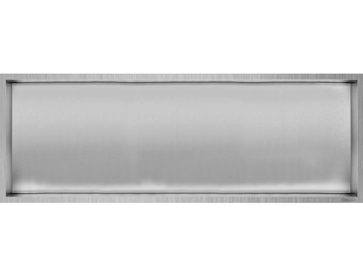 ESS Container Box10 veggnisje børstet,ramme børstet stål 90x30x10 cm