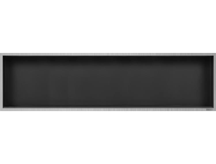 ESS Container Box10 veggnisje antrasitt, ramme børstet stål 120x30x10 cm