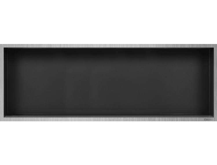ESS Container Box10 veggnisje antrasitt, ramme børstet stål 90x30x10 cm