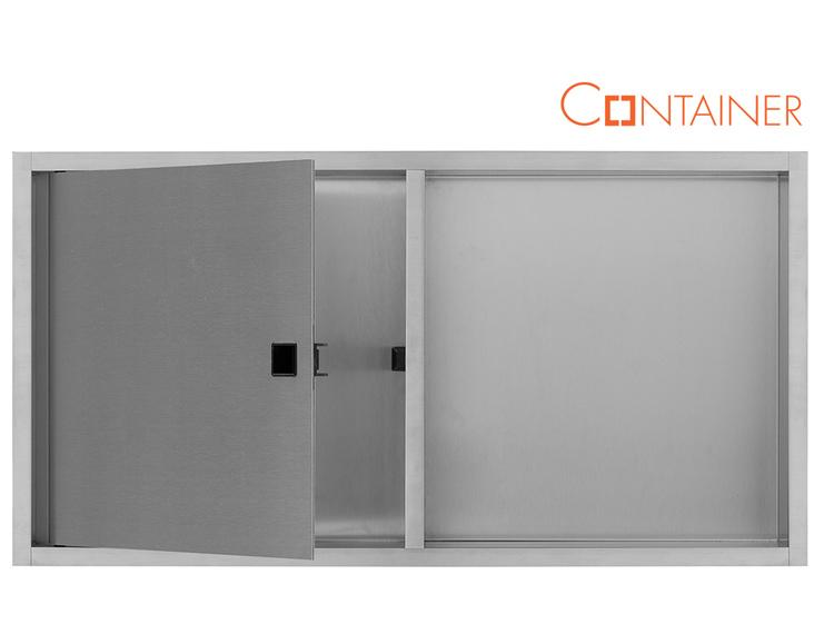 ESS Container Box10 Veggnisje m/dør 60x30cm (BOX-60x30x10-D)